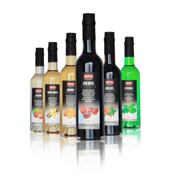 Yahava's coffee syrups on transparent background. Shop coffee syrups online or in store with Yahava.