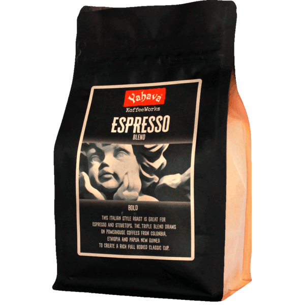 Shop Yahava's delicious Espresso coffee blend online across Australia or in a Perth Koffeeworks