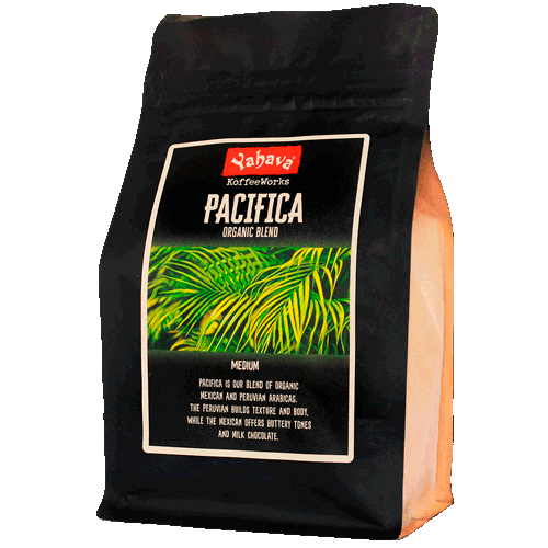 Shop Yahava's delicious Pacifica coffee blend online across Australia or in a Perth Koffeeworks