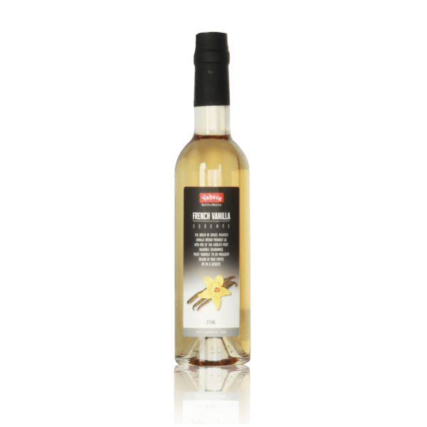 Yahava's French Vanilla coffee syrup on a transparent background. Available to purchase both online or in store through Yahava.