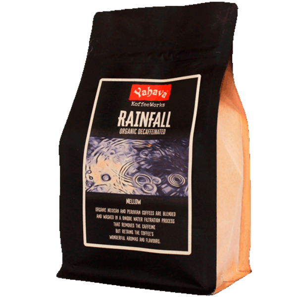 Shop Yahava's delicious Decaffeinated Rainfall coffee blend online or in-store.
