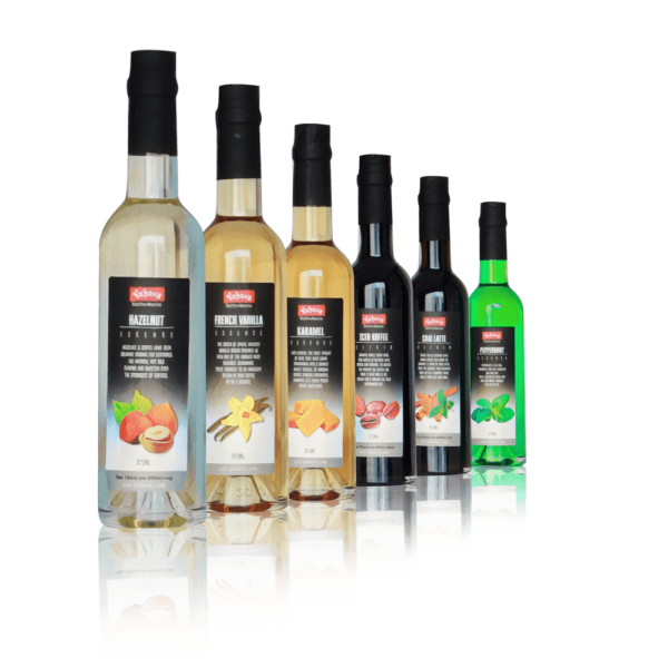 Yahava Coffee syrups on a transparent background. Shop coffee syrups both online or in store through Yahava.