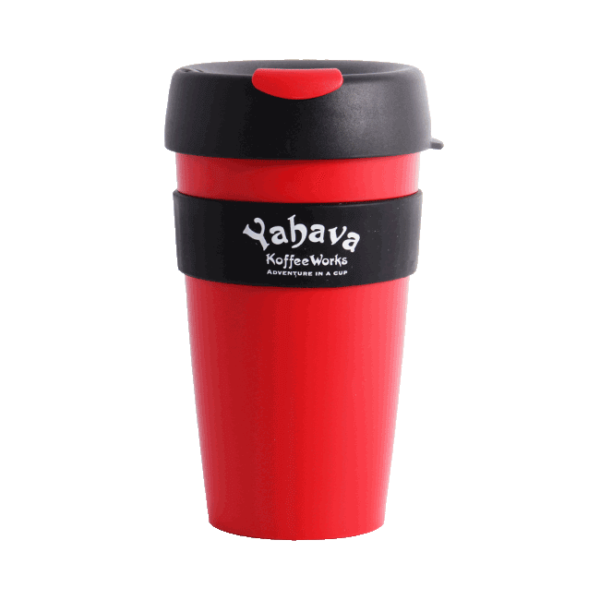 Shop at Yahava for a branded 16oz red body and black lid Bodum Pour-Over coffee cup