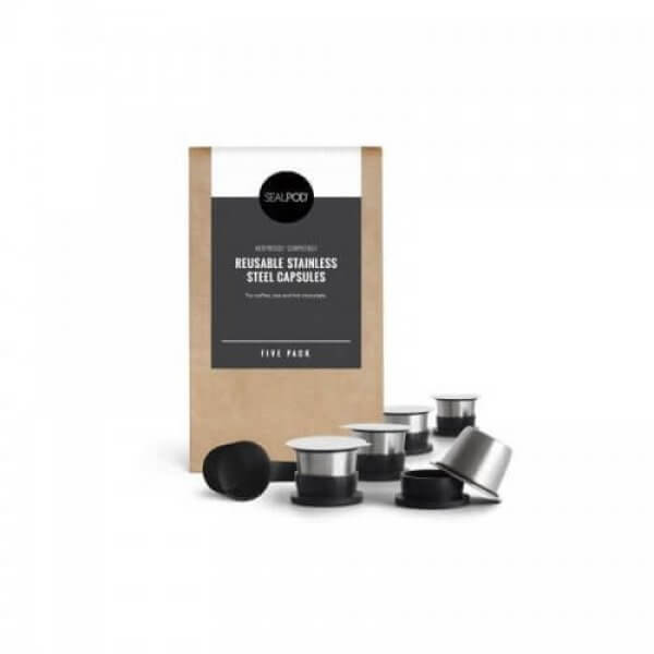 SealPod Stainless Reusable Nespresso Capsule (2x)