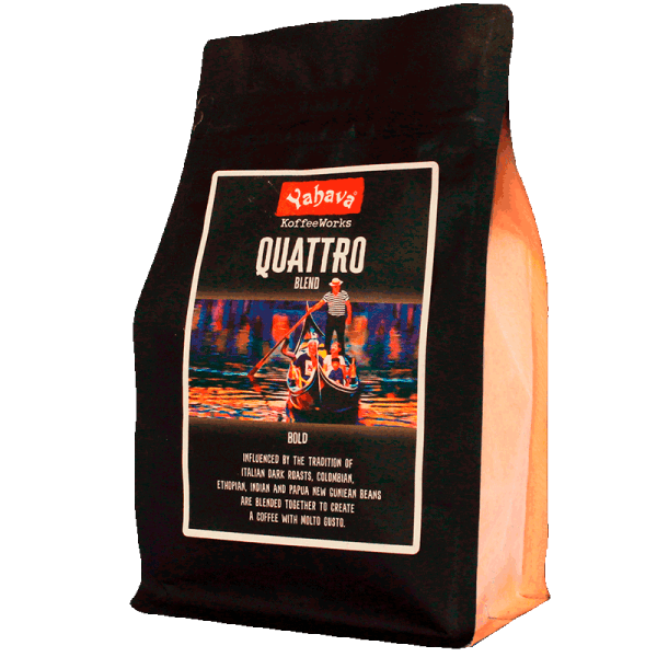 Shop Yahava's delicious Quattro coffee blend online across Australia or in a Perth Koffeeworks