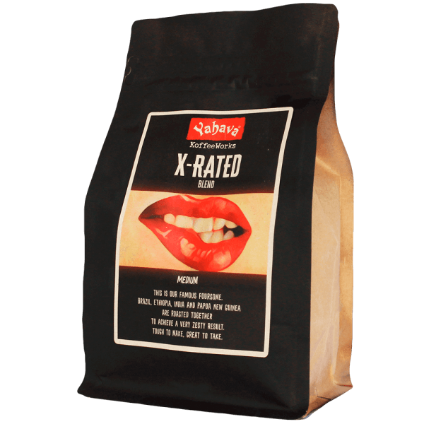 Shop Yahava's delicious X-Rated coffee blend online across Australia or in a Perth Koffeeworks