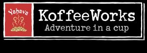 Yahava KoffeeWorks logo on transparent background.