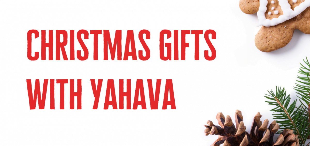 Yahava's Christmas Gift Ideas with a gingerbread man.