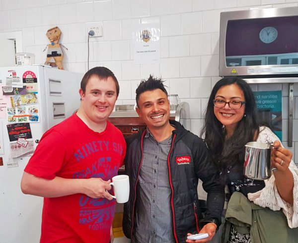 Friends enjoying delicious Yahava Coffee. Matt enjoying Perth's best coffee with Yahava.