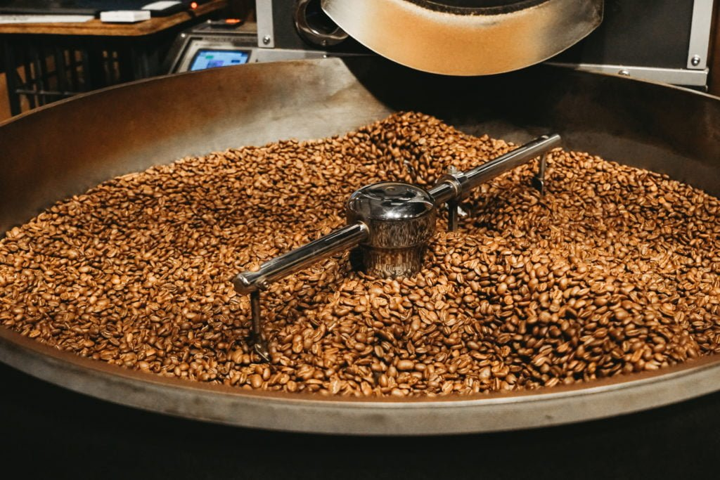 Coffee beans roasting at Yahava. Shop Perth's best coffee online or in store through Yahava.