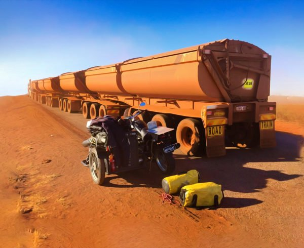 Road train on red dirt. Shop Perth's best Yahava Coffee Beans both online and in-store